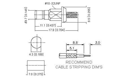 Straight Socket (Bulkhead) Crimp