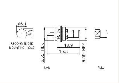 Straight Socket (Bulkhead)Solder