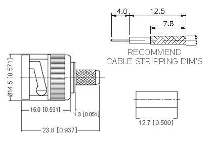 Straight Plug Crimp