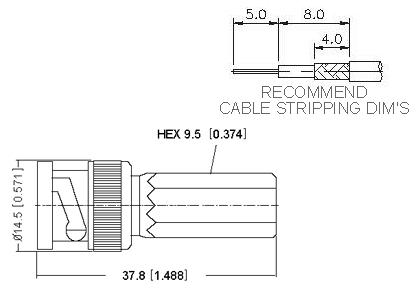 Straight Plug Twist-On