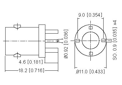Vertical Socket PCB