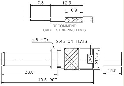 Straight Patch Plug Crimp