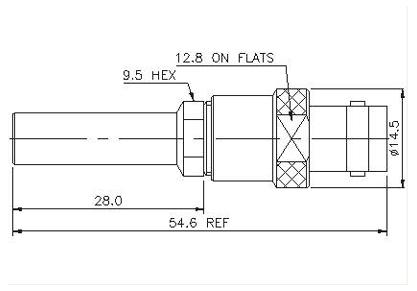 Straight Patch Plug to BNC Socket