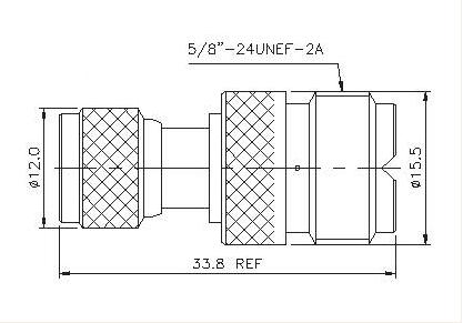 Mini UHF Plug to UHF Socket