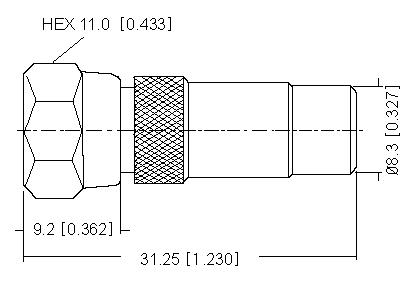 F Plug  to RCA Socket