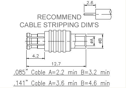 Straight Plug (Semi-Rigid)
