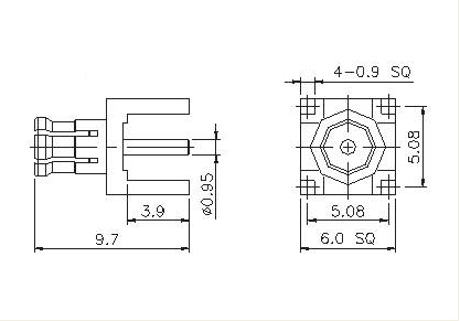 Vertical Plug  PCB