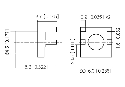 Right Angle Socket  PCB  SMD