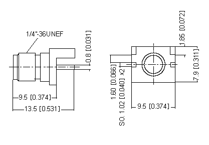 Right Angle Socket PCB