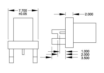 Straight Socket SMD, PCB