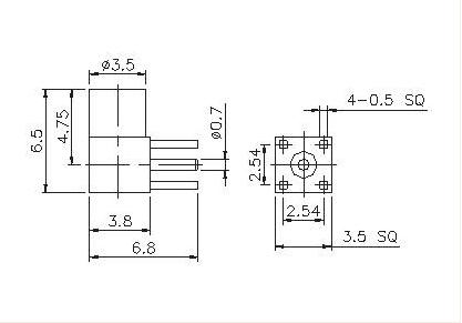 Right Angle Socket PCB