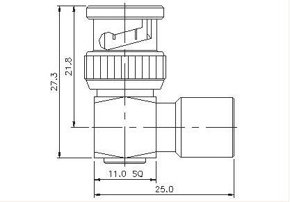 FME Plug to BNC Plug