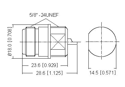 Straight Socket (Bulkhead) Solder