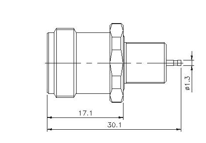 Straight Socket(Bulkhead) Solder