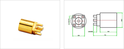 HOOK LOCK PCB for Automobile Connector 이미지